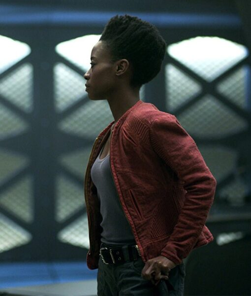 Angela Lost In Space Red Jacket