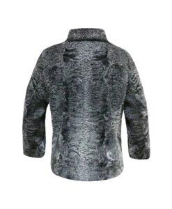 Astrakhan Persian Lamb Fur Jacket Back