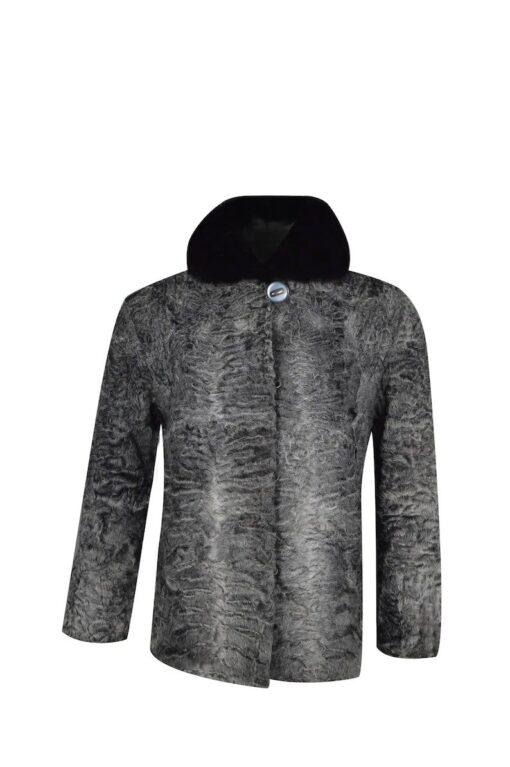 Astrakhan Persian Lamb Fur Jacket Front