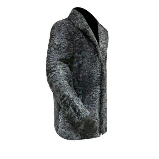 Astrakhan Persian Lamb Fur Jacket Right Side