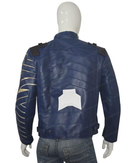 Avengers Infinity War Bucky Barnes Blue Jacket Back