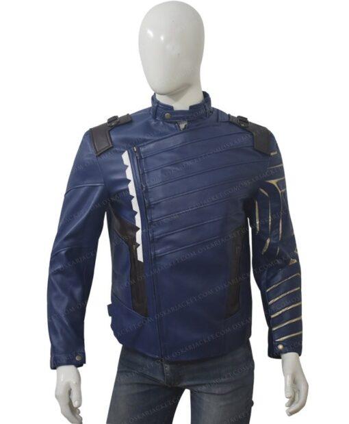 Avengers Infinity War Bucky Barnes Blue Jacket Front