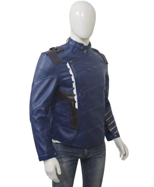Avengers Infinity War Bucky Barnes Blue Jacket Left