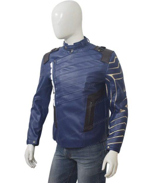 Avengers Infinity War Bucky Barnes Blue Jacket Right