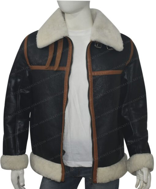 B3 Shearling Fur Bomber Jacket