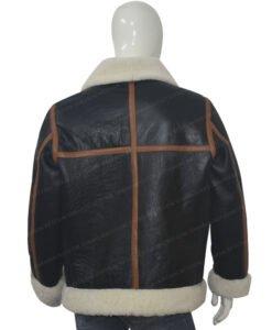 B3 Shearling Fur Bomber Jacket Back