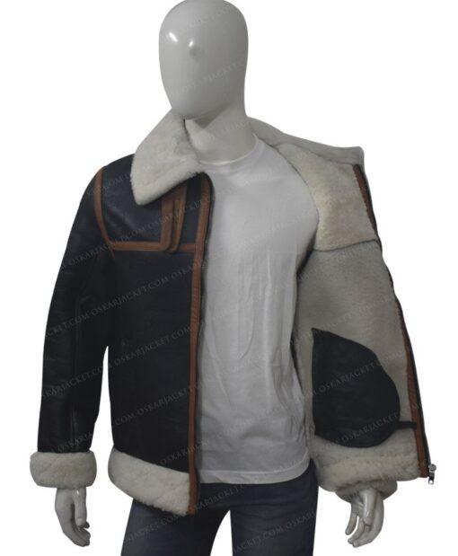 B3 Shearling Fur Bomber Jacket Image