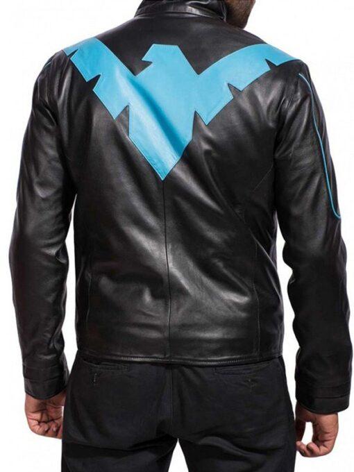 Batman Arkham Knight Nightwing Costume Jacket BAck