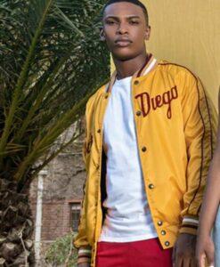 Blood And Water Karabo Molapo Yellow PU Leather Jacket 2
