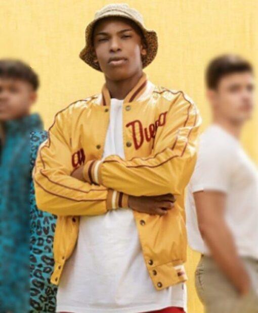 Blood And Water Karabo Molapo Yellow PU Leather Jacket