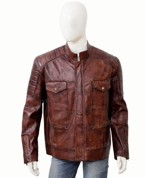Boss Level Roy Pulver Brown Leather Jacket