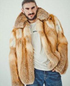 Brown Fox Fur Coat