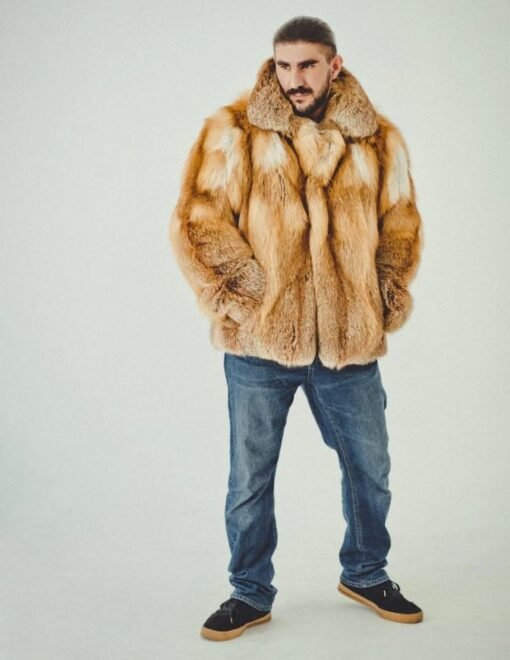 Brown Fox Fur Coat Image