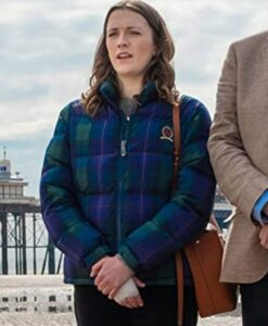 Charlotte Ritchie Feel Good Checkered Puffer Jacket