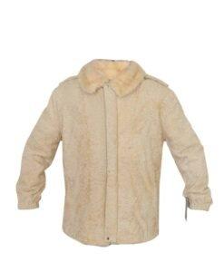 Cream Persian Lamb Fur Coat