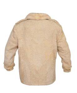 Cream Persian Lamb Fur Coat Back
