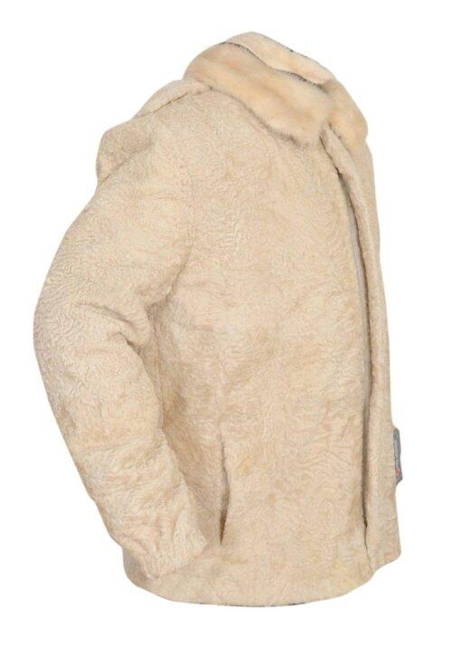 Cream Persian Lamb Fur Coat Right