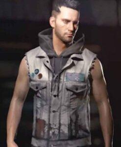 CyberPunk 2077 Real Leather Grey Vest