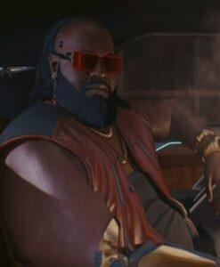 Cyberpunk 2077 Dexter DeShawn Leather Maroon Vest 2