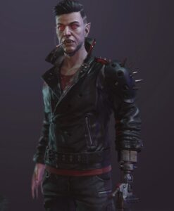 Cyberpunk 2077 Dracula Black Studded Leather Jacket