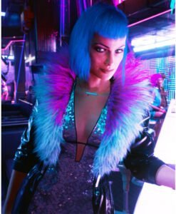 Cyberpunk 2077 Evelyn Parker Faux Leather Black Coat 2