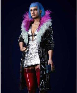 Cyberpunk 2077 Evelyn Parker Faux Leather Black Coat