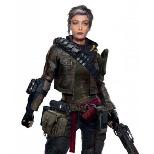 Cyberpunk 2077 Female Nomad Cropped Leather Jacket