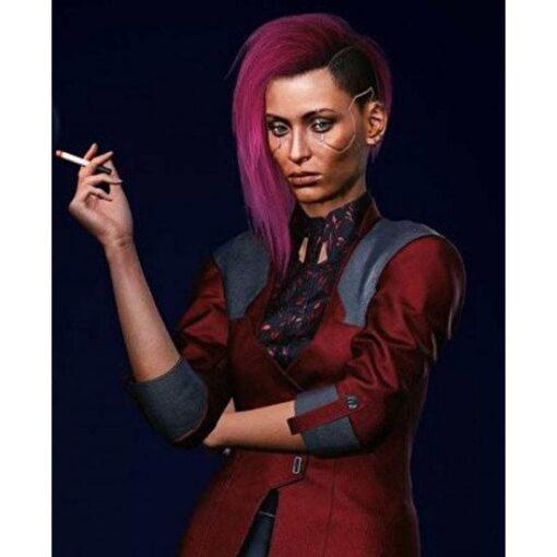 Cyberpunk 2077 Female V Kazuliski Red Cotton Blazer 1