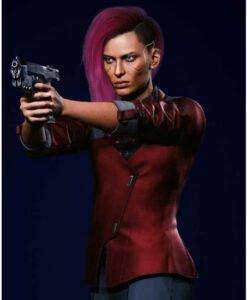 Cyberpunk 2077 Female V Kazuliski Red Cotton Blazer 2