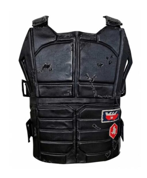 Cyberpunk 2077 Johnny Silverhand Black Tactical Vest Front