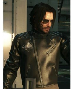 Cyberpunk 2077 Keanu Reeves Black Motorcycle Jacket