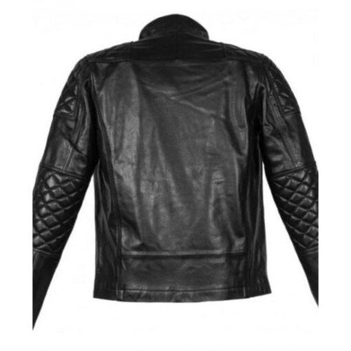 Cyberpunk 2077 Keanu Reeves Black Motorcycle Jacket Back