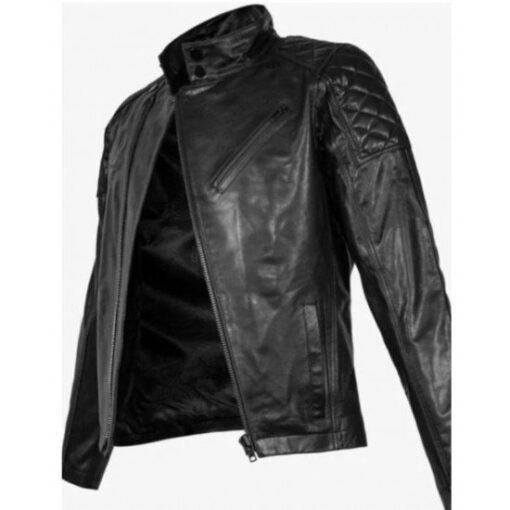 Cyberpunk 2077 Keanu Reeves Black Motorcycle Jacket Front