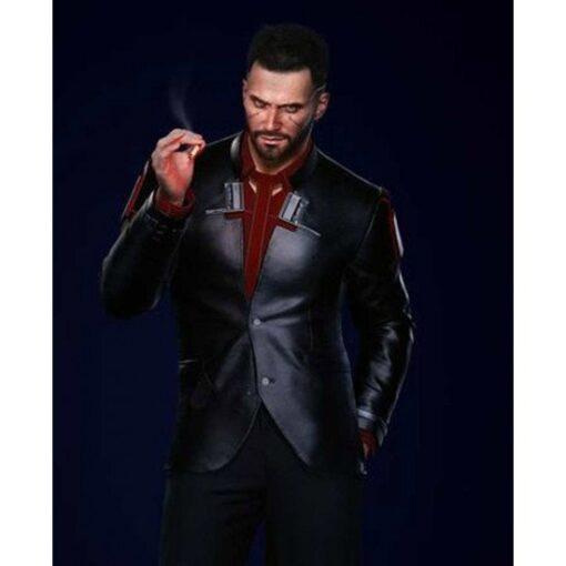 Cyberpunk 2077 Male Nomad V Black Cotton Blazer
