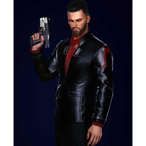 Cyberpunk 2077 Male Nomad V Black Cotton Blazer Side