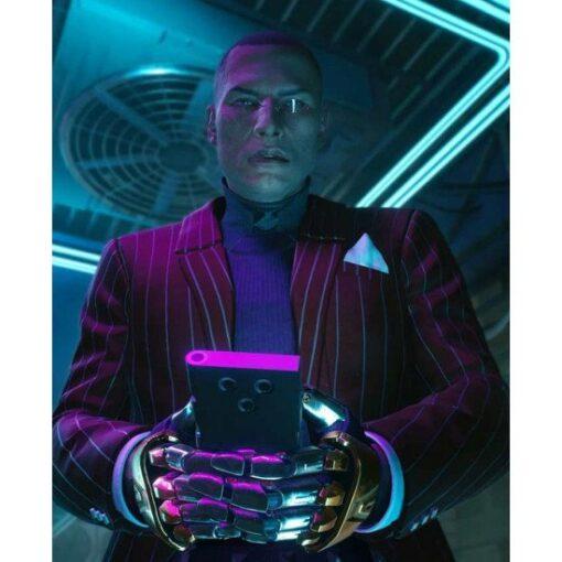 Cyberpunk 2077 Mr. Goldhand Red Wool Blazer