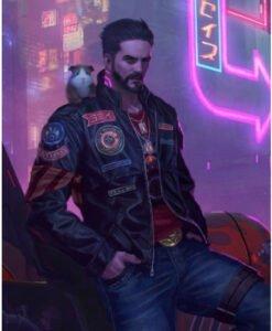 Cyberpunk 2077 Neon Future Leather Jacket