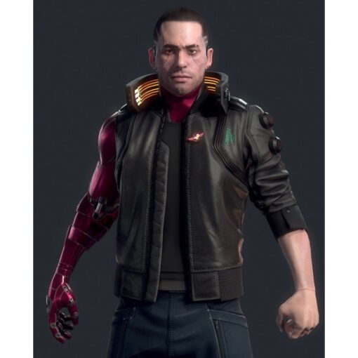 Cyberpunk 2077 Night City Dreamer Black Bomber Jacket