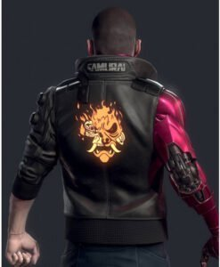Cyberpunk 2077 Night City Dreamer Black Bomber Jacket Back