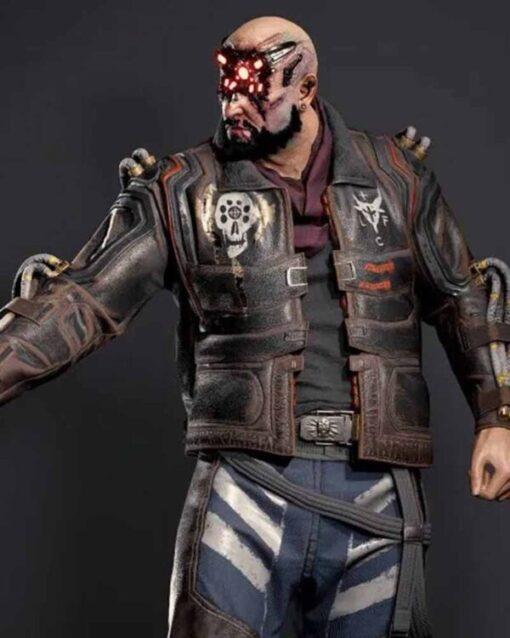 Cyberpunk 2077 Royce Black Leather Jacket
