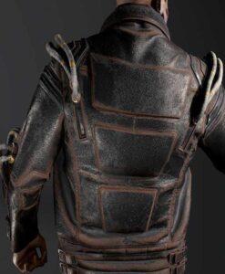 Cyberpunk 2077 Royce Black Leather Jacket Back