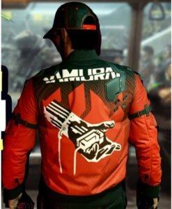 Cyberpunk 2077 Samurai Red and Black Jacket Back