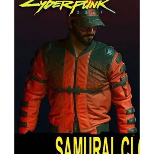 Cyberpunk 2077 Samurai Red and Black Jacket Front
