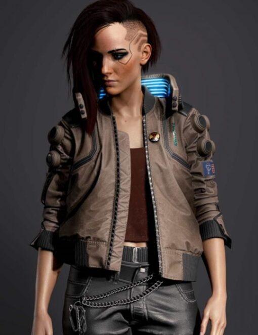 Cyberpunk 2077 V Samurai Leather Bomber Jacket