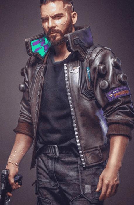 Cyberpunk 2077 V Samurai Leather Bomber Jacket Character
