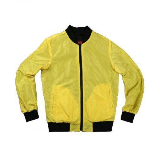 Cyberpunk 2077 Yellow Cotton Bomber Jacket Front