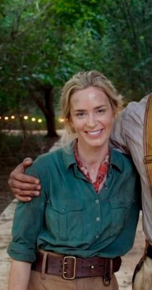 Emily Blunt Jungle Cruise Lily Houghton Cotton Jacket