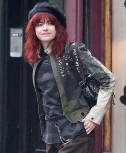 Emma Stone Cruella De Vil Grey Cotton Jacket