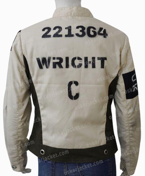 Emma Stone Cruella De Vil Grey Cotton Jacket Back