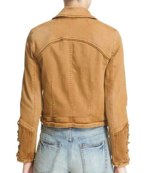 Feel Good Rosalind March Brown Denim Jacket Back